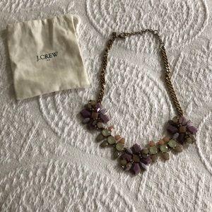 J. Crew holiday sparkle purple tones necklace